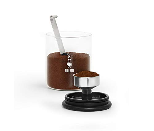 Bialetti Barattolo Moka per caffè da 250 g (con Tappo), Vetro