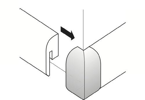 Parador Außenecken für SL 2 Typ 2 Alu-Optik