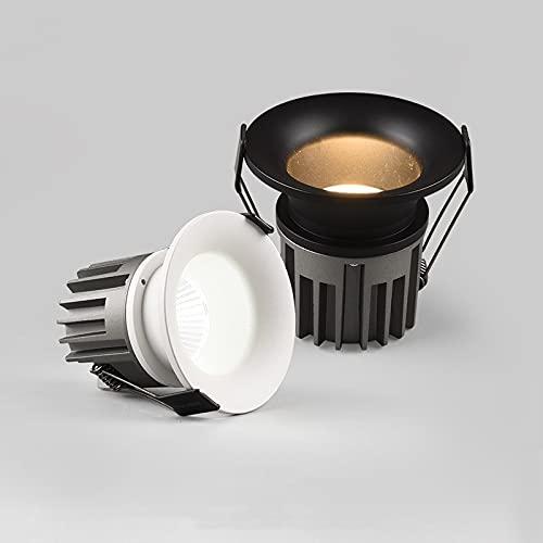 TANGIST 1 unids arco redondo regulable incrustado anti-deslumbramiento LED Techo empotrado Techo Downlight 7W 12W LED pared de lavado de pared Luz de encendido Iluminación (Body Color : Gray)