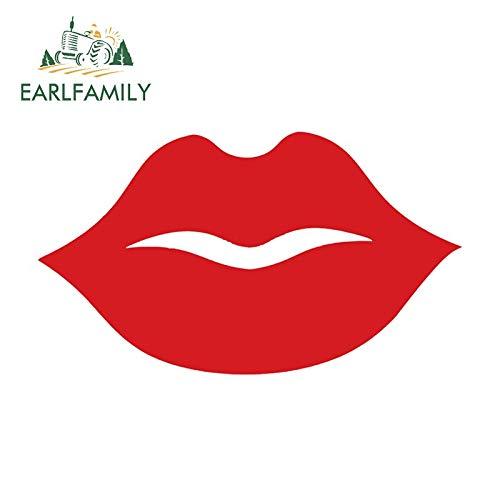 JYIP 15cm x 8cm Big Thick Red Lips Etiqueta Coche