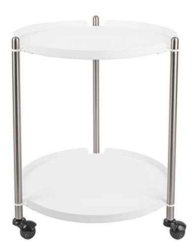 Present Time - Table d'appoint Blanche Mate et métal Thrill