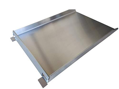 Grillrost.com Das Original Grillplatte/Plancha | Edelstahl | Massiv 45 x 30cm - Passend für Napoleon Rogue mit und ohne Heckbrenner