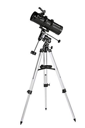 Bresser Spiegelteleskop Pluto EQ 114/500 für Jung und Alt mit Smartphone Kamera Adapter inklusive Stativ und umfangreichem Zubehör