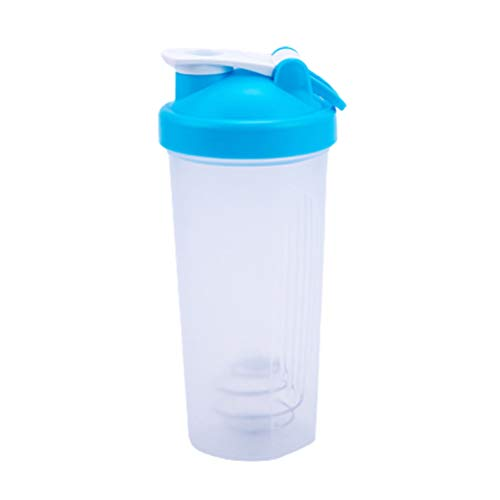 Protein Shaker Bottle Durable Shaker Cup Fitness Sports Classic Protein Mixer Shaker Bottle with Tick Mark for Protein or Supplements