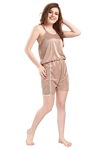 Romaisa Women's Mini Jumpsuit (JS109-352_Rosy Brown_L)
