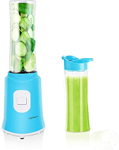 Aigostar Sky 30IWX - Batidora de vaso portátil para smoothies, batidos y picadora de frutas. 350W, Incluye 2 vasos portátiles de Tritan de 600ml