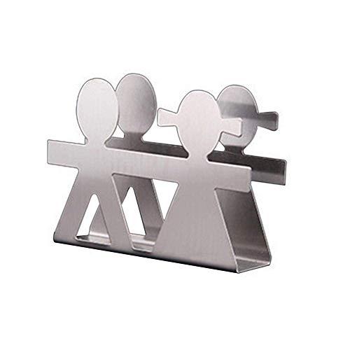 Servilletero de acero inoxidable/innovador servilletero Vertical/estante de papel para servilletas en forma de plantas/dispensador de servilletas elegante/para Decoración de mesa de Hotel en casa (D)