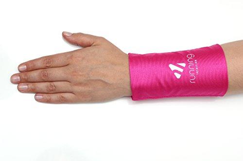 Phone Stretch: Flexible Smartphonetasche, passend für die meisten Smartphones - Joggen, Laufen, Fitness, Sport - Smartphone Armband, Handy Armtasche, Sportarmband, Handgelenktasche,Rosa,S