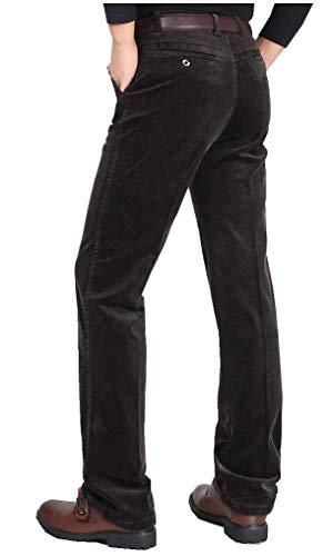 CYSTYLE Herren Corduroy Cordhose Straight Leg (Braun, M)