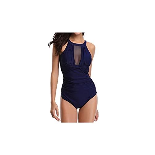 Kfhfhsdgsansyz Bañadores Mujer, Mujeres One Piece Push Up Pad Sujetador Bikini Traje de baño Traje de baño Traje de baño Jumpsuit Beachwear Set (Color : Blue, Size : S)