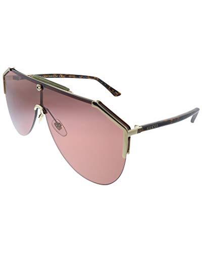 Gucci Gafas de sol GG0584S 003 Gafas de sol hombre color Oro rojo tamaño de lente 99 mm