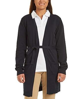 Nautica Juniors Uniform Wrap Cardigan Sweater, Navy, Large(11/13) from Nautica