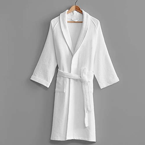 SCDZS Fünf-Sterne-Hotel-Bademantel Männer Frauen Herbst Winter Dicke Baumwolle Bad Robe Männliche Krone Stickerei Absorbierende Tuch Roben (Color : B, Size : Medium)