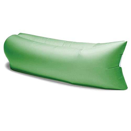 Divano gonfiabile ad aria Comfort Bag con sacca di trasporto, lettino gonfiabile verde in nylon ripstop mis.200x80x60cm circa, materassino gonfiabile aria per mare,spiaggia,piscina, vacanze,campeggio