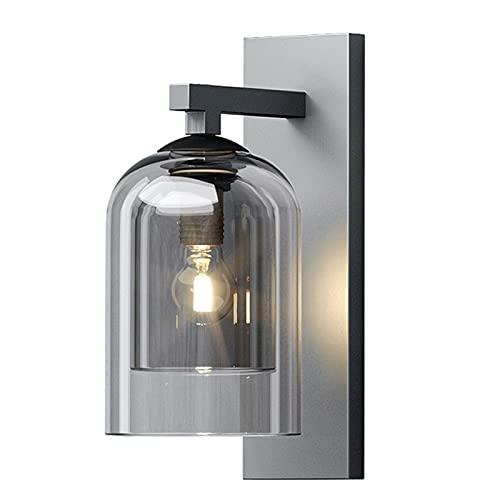 Lampada da parete per esterni Illuminazione per e Moderno Minimalista Muro Lanterna Doppia Lampada da parete in vetro Camera da letto creativa Camera da letto Parete Aisle Studio Camera da letto Lampa