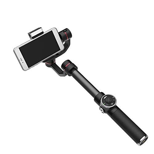 Firestarsdr Estabilizador de cardán con extensión de 10 CM, Foto, Zoom, luz de Relleno, Adecuado para teléfonos móviles de hasta 6 Pulgadas,Negro
