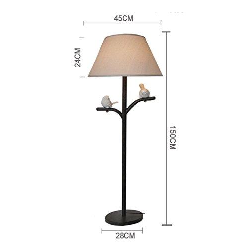 XIN Home vloerlamp, staande lezing, gepersonaliseerde creatieve Jane Europese woonkamer vloerlamp Amerikaanse landelijke pastorale lamp Scandinavische sfeer Vogellicht oogbescherming Verticale Tis