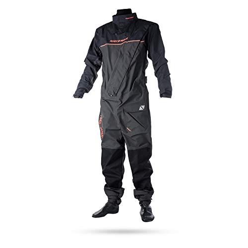 Magic Marine Damen Herren Trockenanzug Regatta Drysuit Segelanzug wasserdicht, Farbe:grau, Größe:XL