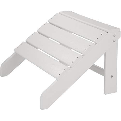 TecTake 800816 Repose-Pieds Design Adirondack Meuble d'Extérieur Résistante aux Intempéries pour Chaises et Fauteuils – Diverses Couleurs (Blanc)
