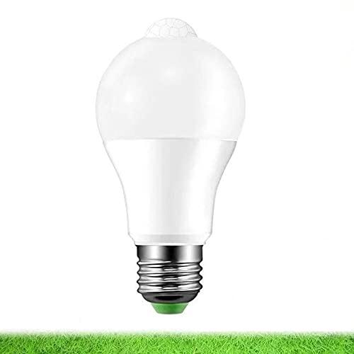 Bombilla LED con sensor para el hogar 6W 12W Bombilla LED Bombilla con sensor LED Iluminación Infrarrojos Bombilla Pir Sensor de luz inteligente Bombilla LED - Blanco frío