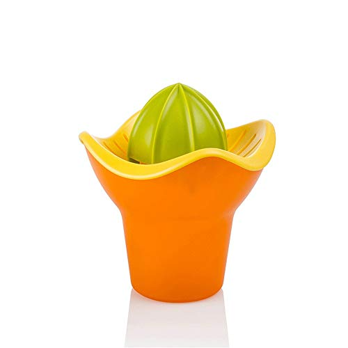 Handmatige Sapcentrifuge Manual Oranje Juicer Portable Lemon Grapefruit Squeezer Lemon Orange citruspers gemakkelijk schoon te maken Gezond Modern Geschenk (Color : Orange, Size : 13.6X13.6X16CM)