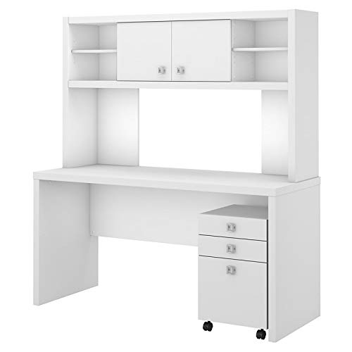 Office by Kathy Ireland Echo Credenza Desk Office Suite in Pure White
