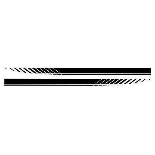KKmoon Adesivo Auto, Adesivi per Auto Universali Decalcomania Cofano Tetto Laterale Corpo Vettura da Corsa Stile Striscia per Tutte Le Auto, Nero