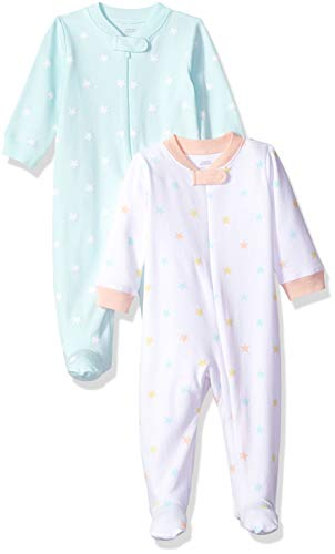 Amazon Essentials - Pack de 2 pijamas de niña para dormir y jugar