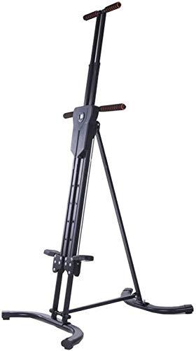 CCJW Máquina de escalado vertical de escalada, bicicleta estática plegable, aleación de acero, mango de espuma, altura ajustable, para entrenamiento interior kshu