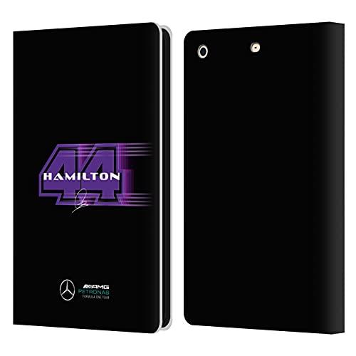 Head Case Designs Mercedes-AMG Petronas F1 Team Driver Number 44 Lewis Hamilton - Funda tipo libro para iPad Mini 1 / Mini 2 / Mini 3