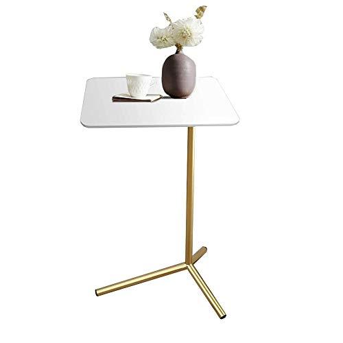 Household products / Furniture Sofá Mesa lateral portátil de la sala de madera maciza Mesa auxiliar Bocado de mesa portátil dormitorio Mesita bandeja de TV, 15.7''x11.8''x23.6 '' (Color: Negro)