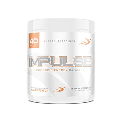 Reforged Impulse ─ Nootropic Brain Booster Energy Drink ─ Improve Focus, Concentration, & Energy ─ w/ CDP-Choline, Huperzine A, N-Acetyl L-Tyrosine, & Caffeine ─ Mango, 40 Servings
