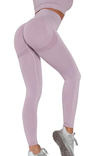 UMIPUBO Mujer Mallas Pantalones Deportivos Push up Yoga Leggings de Cintura Alta Pantalones Deporte para Fitness Running Elásticos y Transpirables