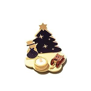 Adventslicht Leuchter Handarbeit Teelichthalter Holz Kerzenständer Weihnachtsdeko Teelichthalter Weihnachtstanne…
