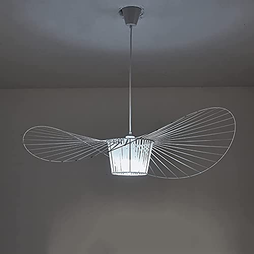 yanzz Lámpara Colgante Moderna Araña Vertigo, Fibra de Vidrio + Línea de Poliuretano Iluminación Decorativa Sombra, Sala de Estar Dormitorio Bar Restaurante Negro 120cm