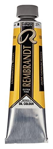 Talens Rembrandt - Excelentes colores de pintura al óleo - 40 ml - 271 Amarillo cadmio medio