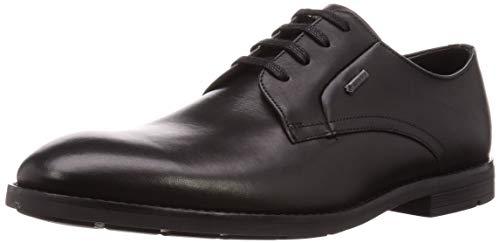 Clarks Herren Ronnie Walk GTX Derbys, Schwarz (Black Leather), 44.5 EU