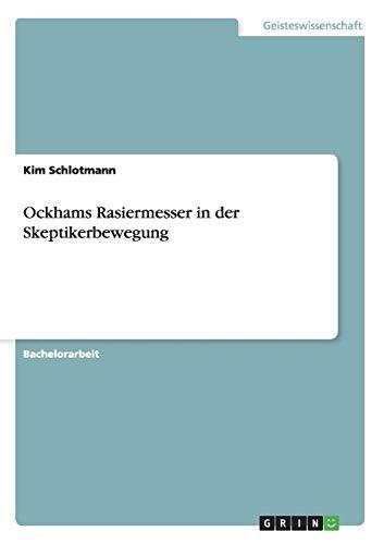 Ockhams Rasiermesser in der Skeptikerbewegung