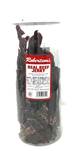 Robertson's Real Beef Jerky (16 Oz, which is 1 Pound)