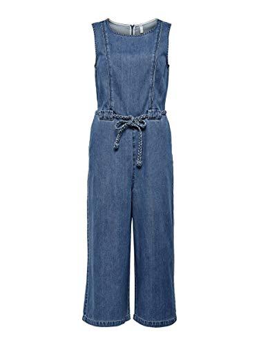 ONLY Damen Onlnew Marwin Life SL CRP DNM Jumpsuit Jeans, Medium Blue Denim, 36