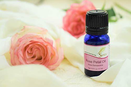 Aceite esencial de SVETV Rose Petal (Rosa Damascena) 10 ml (1/3 oz) 100% puro, sin diluir, grado terapéutico