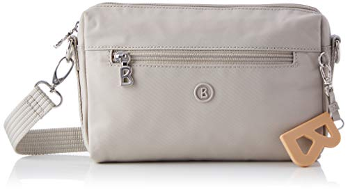 Bogner Damen pukie shoulder bag (zipper, lightgrey, 22/21x15x4