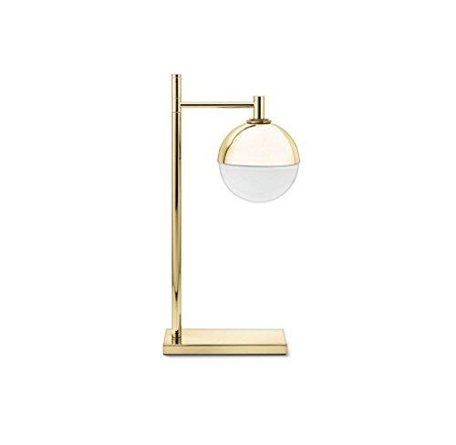 ZfgG Lámpara de mesa Lámpara de mesa de noche Lámpara de bola de vidrio Sombra de oro Metal Lámpara de mesa Lámparas de diseño Iluminación de mesita de noche Salón Dormitorio Estudio Decoración del ho