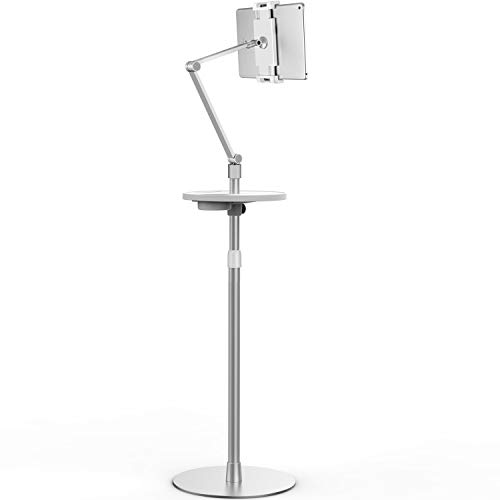 Viozon Tablet Floor Stand, Holder for iPad,Applicable to 4.5~10inch Smart Phone and Tablet Such as iPad, iPhone X, iPad Pro,iPad Mini, iPad Air 1-2 / iPad 2-4 (Silver)