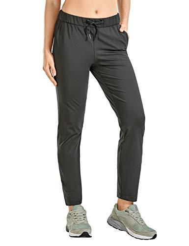 CRZ YOGA - Pantalones Deportivos Casuales con Bolsillo para Mujer -71cm Montaña Verde 44