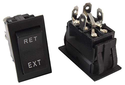 Trailer Power Jack Switch Replacement for LCI Lippert Recpro F2C and Others - 4 Pin, 4 Wire, Polarity Reversing (1 pack)