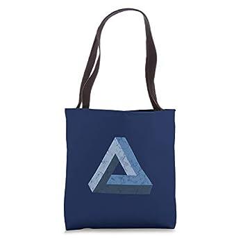 Penrose Tribar optical illusion impossible triangle maths Tote Bag