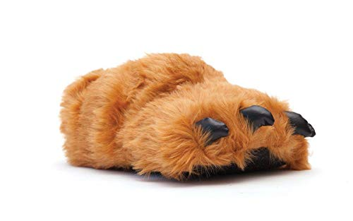 9090-2 - Brown Claw - Medium - Happy Feet Animal Slippers