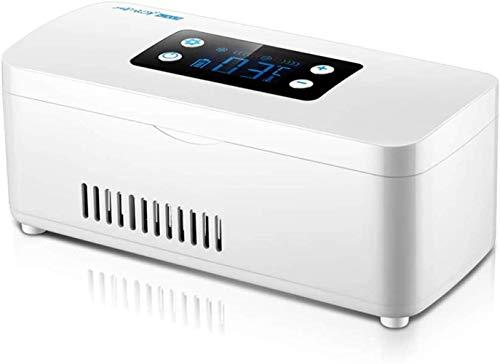 WRJY Mini Medicine Kühlschrank und Insulinkühler für Auto, Reisen, Zuhause - Tragbare Autokühlbox/kleine Reisebox für Medikamente