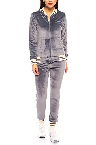 Crazy Age Nicki Anzug  Velvet   Mikrofaser Anzug feine Qualität   Warm und Kuschelig   Sportanzug aus Samt (Nicki, Velvet) Wohlfühlen mit Style (Anthrazit, L~38/40)